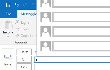 Tornare alla vecchia visualizzazione dei contatti recenti di Outlook